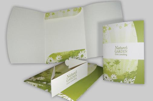 custom designed bellyband folder