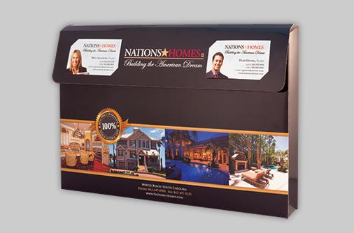 custom designed horizontal box with partial flap
