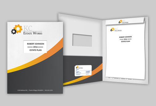 custom designed estate and trust folders for attorneys