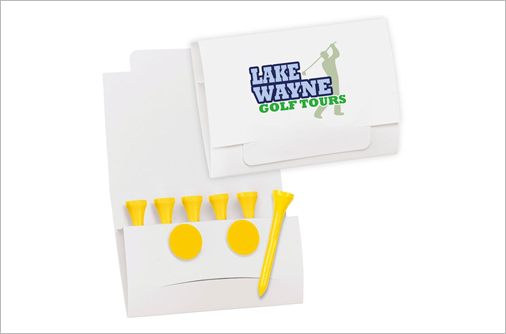 custom designed golf promotional and advertising products with logo