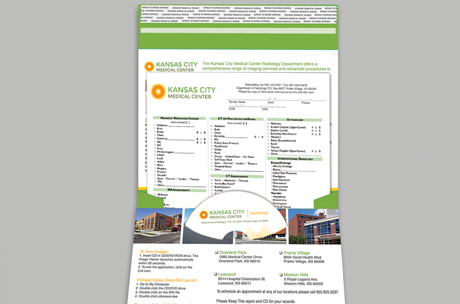 custom designed report and cd pocket mailers