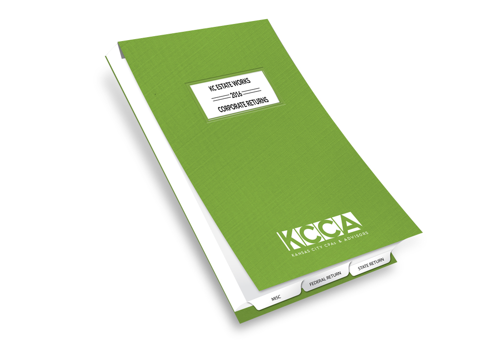 custom designed tax covers for accountants
