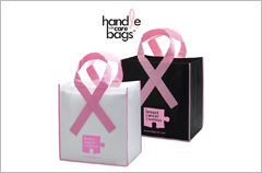 breast cancer awareness grocery shopping bags