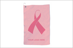 breast cancer awareness pink ribbon golf towel