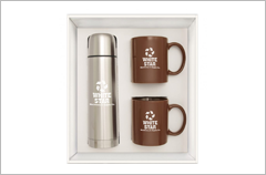 brown hampton to go mugs gift-set