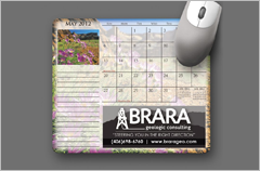 calendar mouse pads with logo