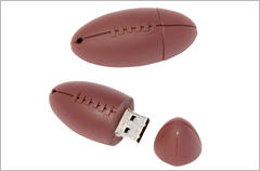 custom designed football usb drives