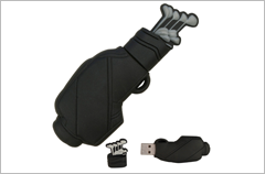 custom designed golf bag usb drives