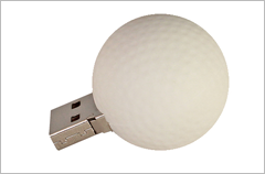 custom designed golf ball usb drives