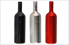 custom designed wine bottle usb drives