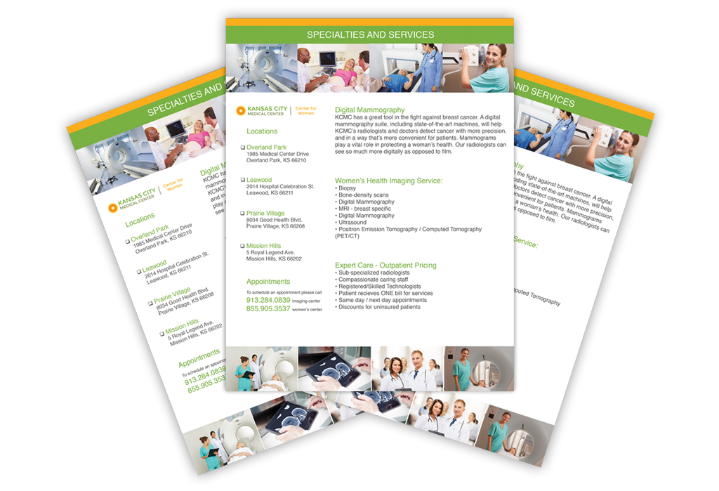 Physician Referral Folder Stepped Inserts