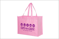non-woven breast cancer awareness bags